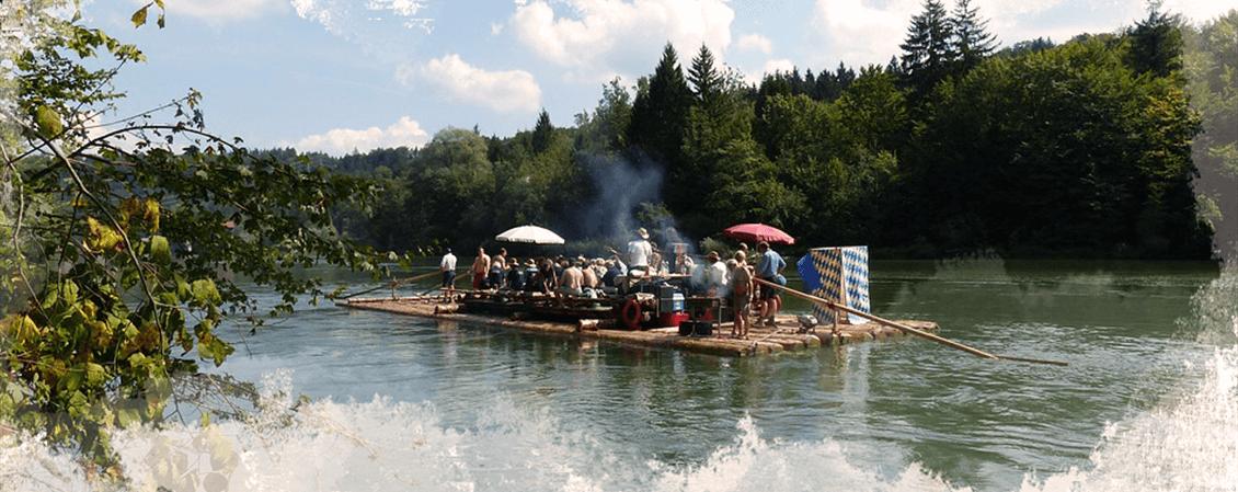 Tour und Karte für Isar-Schlauch-Boot-Touren
